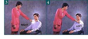 Sledujte nervové dráhy tela. Dotyky musia byť vyvážené na oboch stranách tela.