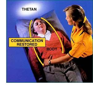 Umiestňovaním rúk na rôzne miesta tela a tým, že ich osoba vníma, môže byť niekto, kto je chorý alebo zranený, privedený späť k lepšej komunikácii s telom.